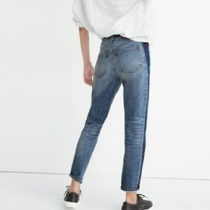 Madewell The High-Rise Slim BoyJean Tuxedo two ton